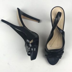 Kate Spade Black Patent Leather Sandles 8